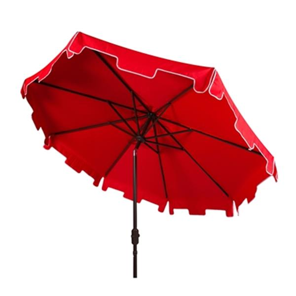 Safavieh Zimmerman 9-ft Red Drape Crank & Tilt Patio Umbrella