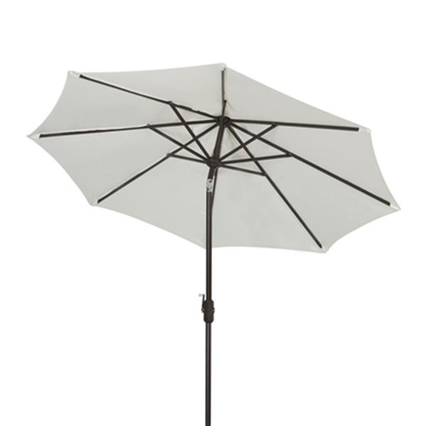 Safavieh Ortega 9-ft Off-White Market Auto Tilt Patio Umbrella