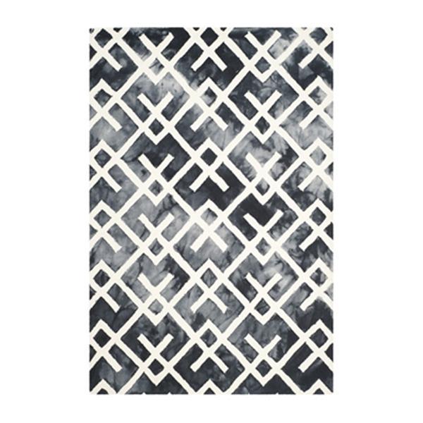 Safavieh Dip Dye Hand-Tufted Wool Graphite and Ivory Area Ru