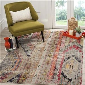 Safavieh Monaco Light Grey Multicolor Area Rug,MNC222G-214