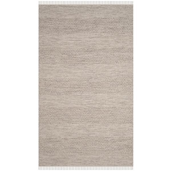 Safavieh Montauk Flat Weave Ivory and Steel Grey Area Rug,MT