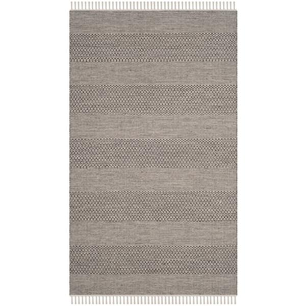 Safavieh Montauk Flat Weave Ivory and Anthracite Area Rug,MT