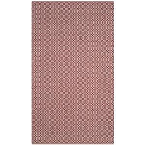 Safavieh Montauk Flat Weave Ivory and Red Area Rug,MTK333C-5