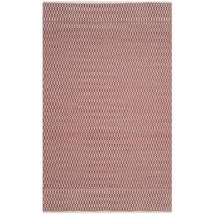 Safavieh Montauk Flat Weave Ivory and Red Area Rug,MTK339C-5
