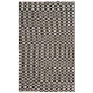 Safavieh Montauk Flat Weave Ivory and Black Area Rug,MTK339D