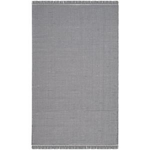 Safavieh MTK340B Montauk Flat Weave Ivory and Navy Area Rug,