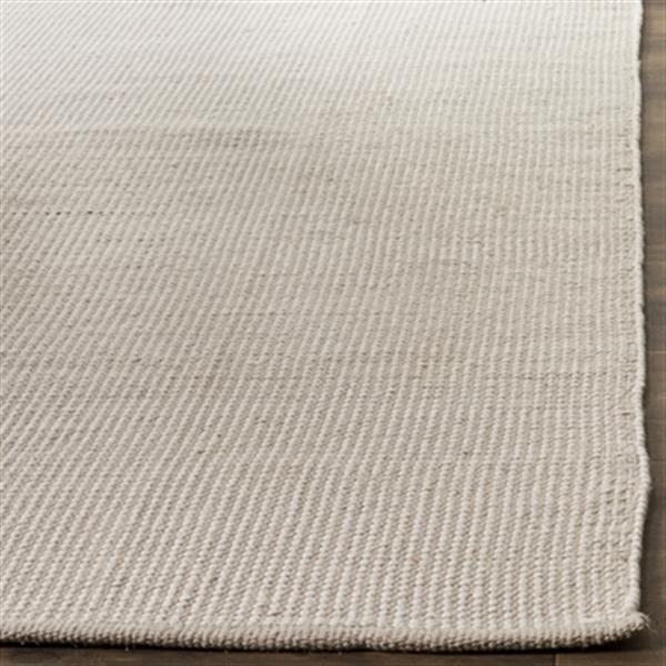 Safavieh MTK345A Montauk Flat Weave Ivory and Grey Area Rug,