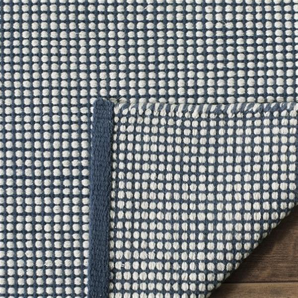 Safavieh Montauk Flat Weave Ivory and Navy Area Rug,MTK345B-