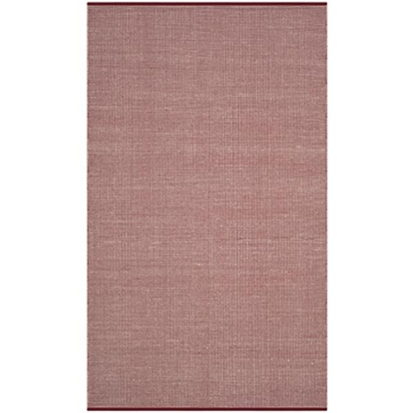 Safavieh Montauk Flat Weave Ivory and Red Area Rug,MTK345C-5