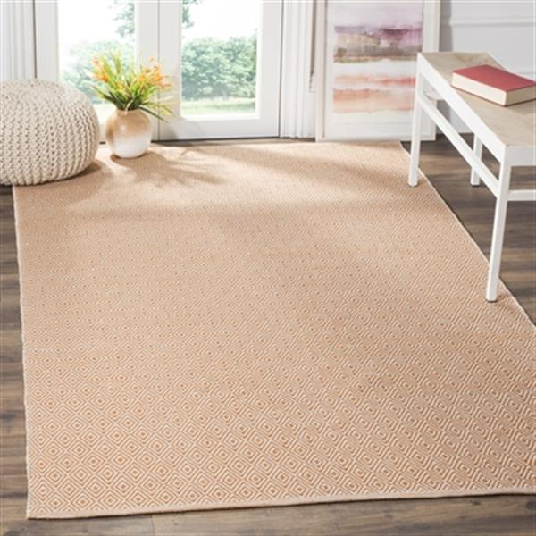 Safavieh Montauk Flat Weave Ivory and Rust Area Rug,MTK515L-