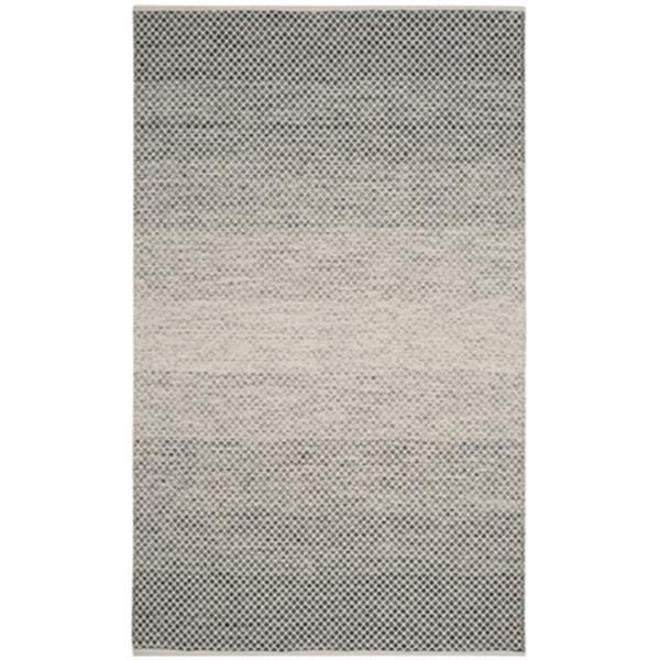 Safavieh Montauk Flat Weave Black and Ivory Area Rug,MTK601A