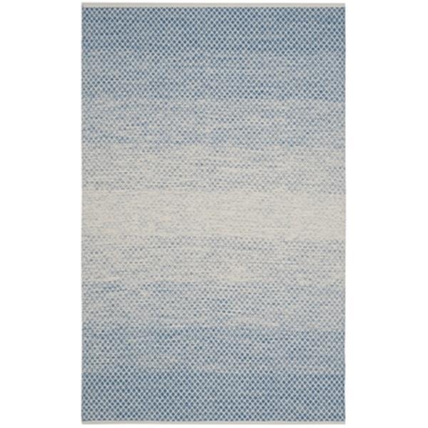 Safavieh Montauk Flat Weave Blue and Ivory Area Rug,MTK601B-