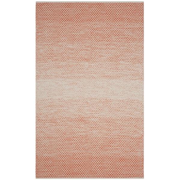 Safavieh Montauk Flat Weave Orange and Ivory Area Rug,MTK601