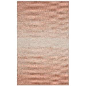 Safavieh Montauk Flat Weave Orange and Ivory Area Rug,MTK601