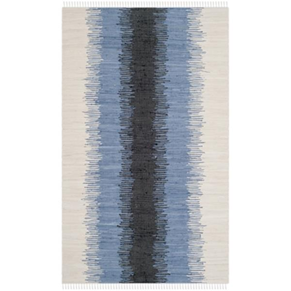 Safavieh Montauk Flat Weave Grey and Black Area Rug,MTK710A-