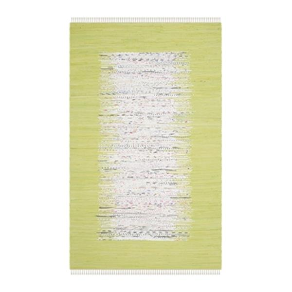Safavieh Montauk Flat Weave Ivory and Citron Area Rug,MTK711