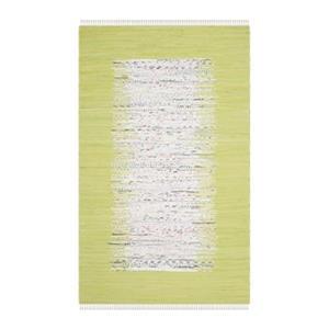 Safavieh Montauk Flat Weave Ivory and Citron Area Rug,MTK711