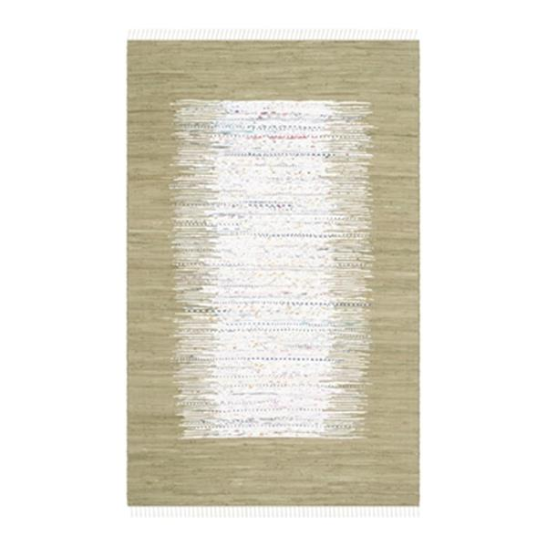 Safavieh Montauk Flat Weave Ivory and Olive Area Rug,MTK711K