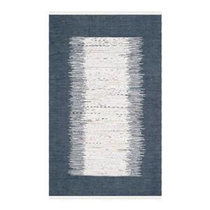 Safavieh Montauk Flat Weave Ivory and Navy Area Rug,MTK711L-