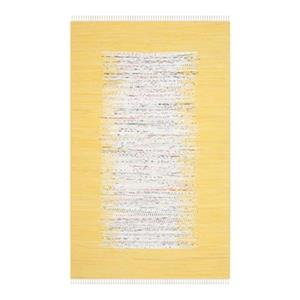 Safavieh Montauk Flat Weave Ivory and Yellow Area Rug,MTK711