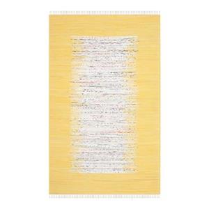 Safavieh Montauk Flat Weave Ivory and Yellow Area Rug,MTK711