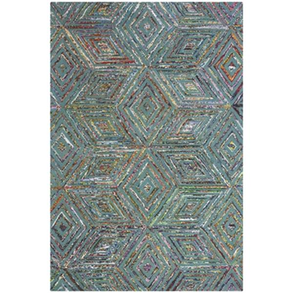 Safavieh Nantucket Hand-Tufted Blue Area Rug,NAN607A-4