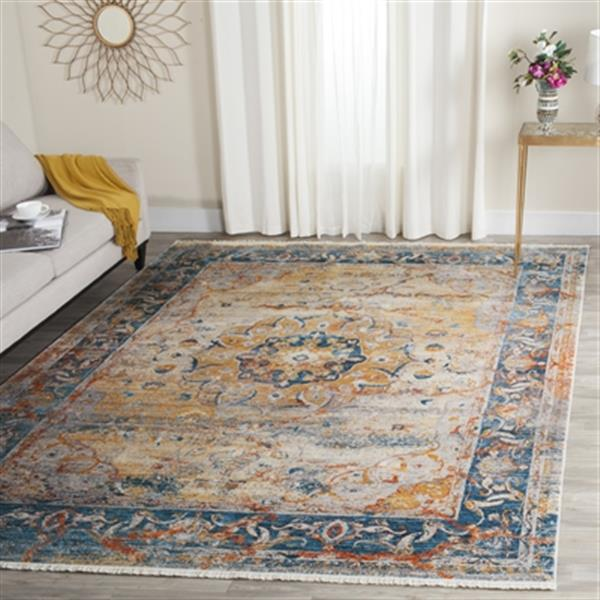 Safavieh Vintage Persian Blue Multicolor Area Rug,VTP435B-4