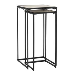 Safavieh Callia 31.5-in Light Oak/Black Retro Mid Century Wood Stacking End Table