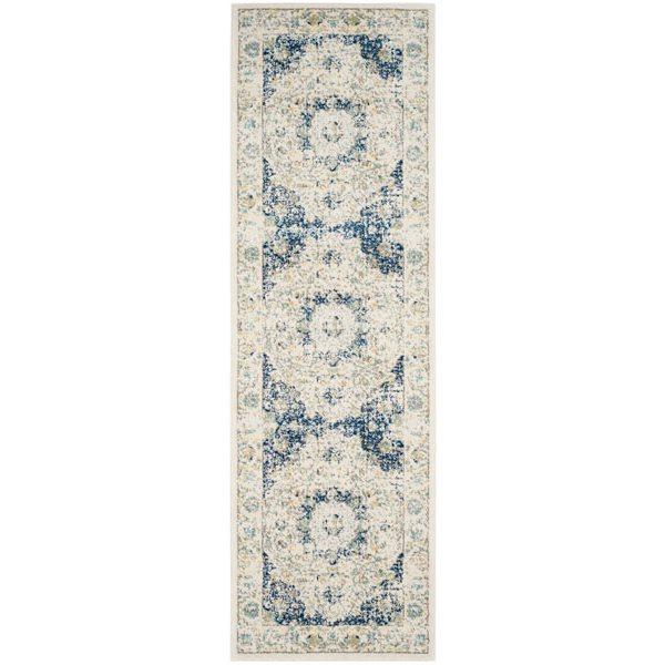 Safavieh Evoke Ivory and Blue Indoor Area Rug,EVK220C-219