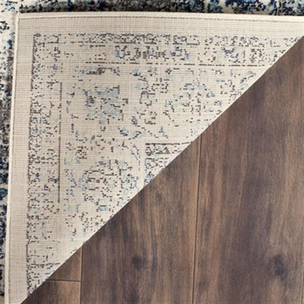 Safavieh Evoke Grey and Ivory Indoor Area Rug,EVK220D-5