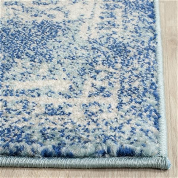 Safavieh Evoke Blue and Ivory Indoor Area Rug,EVK256C-5