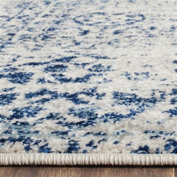 Safavieh Evoke Ivory and Blue Indoor Area Rug,EVK260C-5
