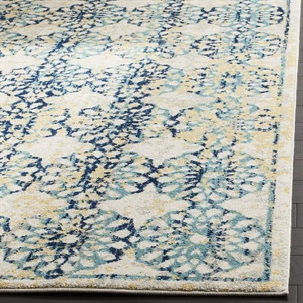 Safavieh Evoke Ivory and Blue Indoor Area Rug,EVK262C-5