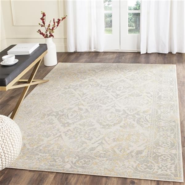 Safavieh Evoke Ivory and Grey Indoor Area Rug,EVK264D-5
