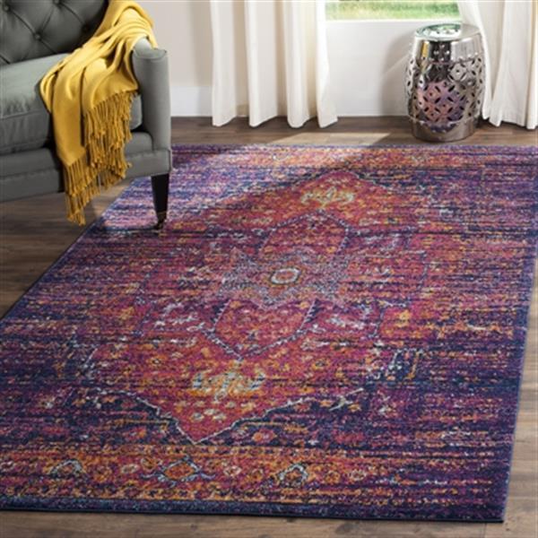 Safavieh Evoke Blue and Fuchsia Indoor Area Rug,EVK275F-5