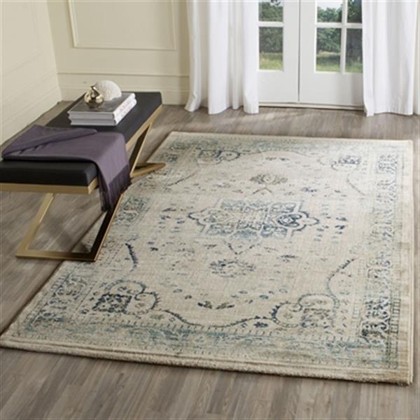 Safavieh Evoke Beige and Turquoise Indoor Area Rug,EVK509F-5
