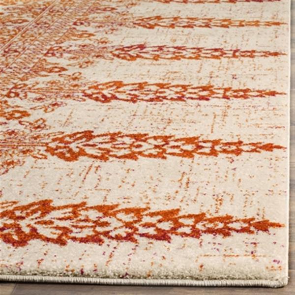 Safavieh Evoke Ivory and Gold Indoor Area Rug,EVK521R-5