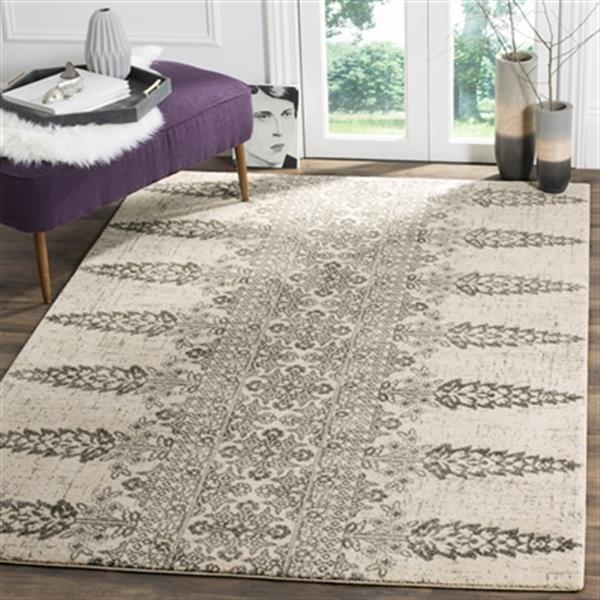 Safavieh Evoke Ivory and Silver Indoor Area Rug,EVK521S-5