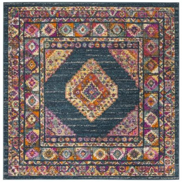 Safavieh Madison Blue and Fuchsia Area Rug,MAD133C-7SQ