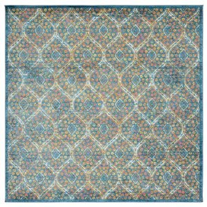 Safavieh Madison Blue and Orange Area Rug,MAD140A-7SQ
