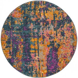 Safavieh Madison Blue and Orange Area Rug,MAD143A-7R