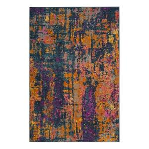 Safavieh Madison Blue and Orange Area Rug,MAD143A-7SQ
