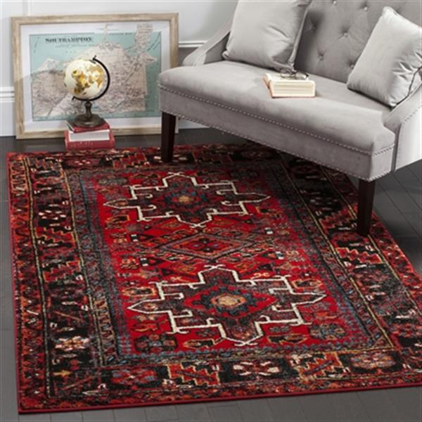 Safavieh Vintage Hamadan Red and Multicolor Indoor Area Rug,