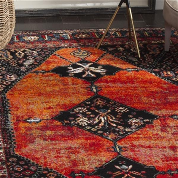 Safavieh Vintage Hamadan Orange and Multicolor Indoor Area R