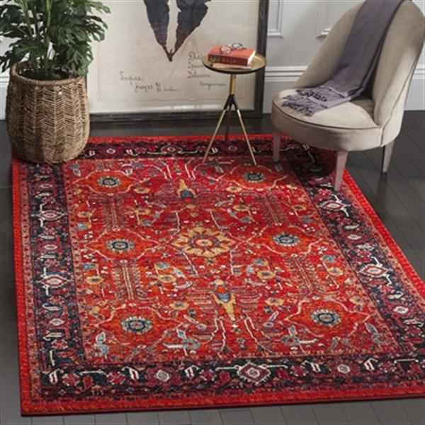 Safavieh Vintage Hamadan Orange and Navy Indoor Area Rug,VTH