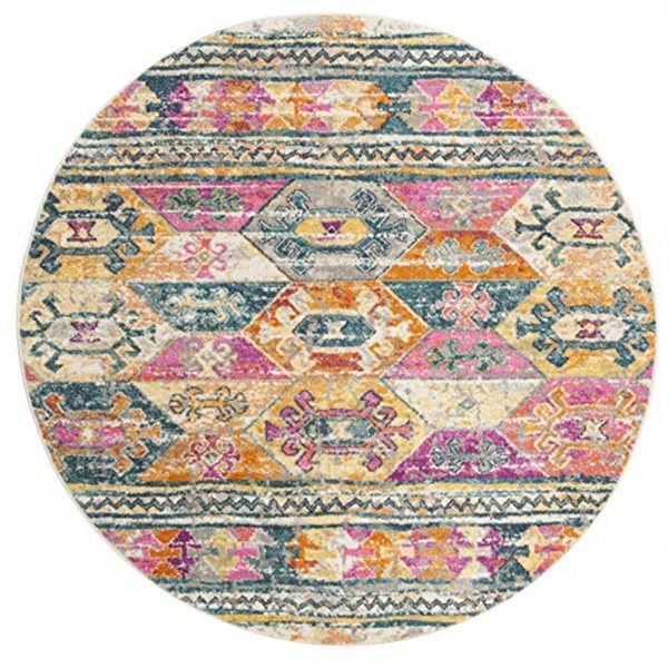 Safavieh Madison Blue and Fuchsia Area Rug,MAD118C-7R
