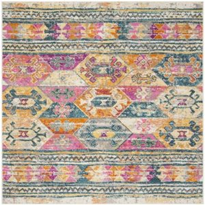 Safavieh Madison Blue and Fuchsia Area Rug,MAD118C-7SQ