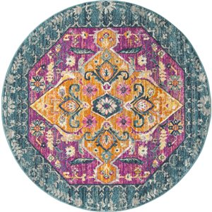 Safavieh Madison Blue and Fuchsia Area Rug,MAD119C-7R