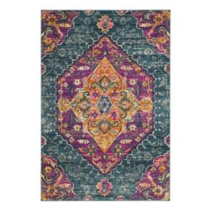 Safavieh Madison Blue and Fuchsia Area Rug,MAD119C-7SQ