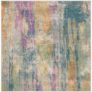 Safavieh Madison Blue and Fuchsia Area Rug,MAD123C-7SQ